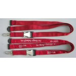 Satin Ribbon Stitched Lanyards(RB-026)