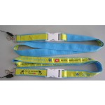 Satin Ribbon Stitched Lanyards(RB-030)